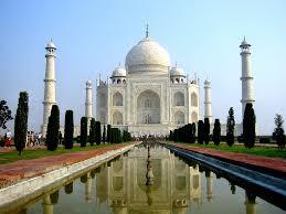 Vista frontal del Taj Mahal