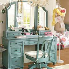 Vanity Bedroom Makeup Bedroom Lovely Vintage Blue Vanity Make Up Table With Tripod Ideas
