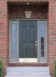modern home main door design with dark gray wooden single door