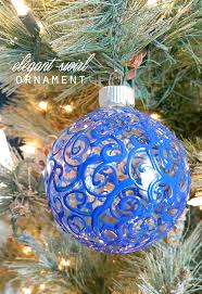 elegant swirl ornaments ilovetocreate