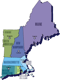 Map Of The New England Colonies by 13 Colonies