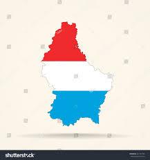 Luxembourg Map Map Luxembourg Luxembourg Flag Colors Stock Vector 427137760