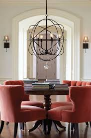 simple dining room lighting best pottery barn wooden kitchen table
