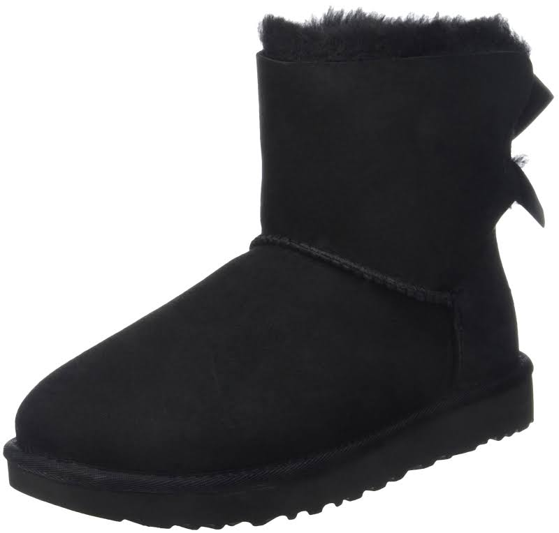 UGG Australia Mini Bailey Bow II Black Boots 1016501-BLK