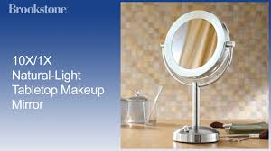 Light Up Makeup Mirror 10x 1x Natural Light Tabletop Makeup Mirror Youtube