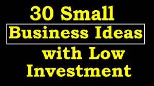 30 small business ideas with low investment youtube