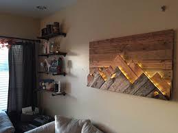 wooden mountain range wall art by 234studios on etsy interesting