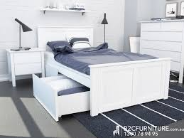 Single Bedroom Furniture King Single Bed Storage Kids Beds White B2c Furniture