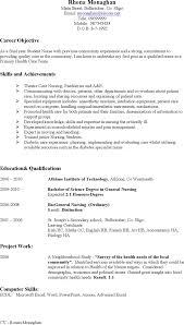 Resume For Nurses Free Sample by Free Sample Cv Nursing Formxls