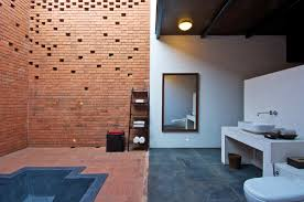 awesome pool ideas at brick kiln house design in small village bathroom ideas at brick kiln house design in small village munavali india