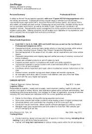 Ex Military Resume Examples by Military Civilian Cv Driver