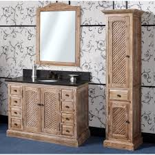 Abel  Inch Rustic Single Sink Bathroom Vanity Natural Oak Finish - 48 bathroom vanity antique white