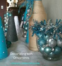 Christmas Tree Decorations Blue And Silver Christmas Decorating With Glittered Pinecones And Ornaments