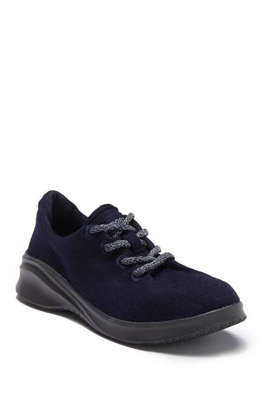 JSport by Jambu Crane Wool Lace-Up Fashion Sneakers Navy 8 Medium (B,M)