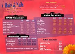 nail salon menu templates images