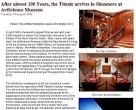 Titanic Exhibition at the Singapore ArtScience Museum (Breaking ...