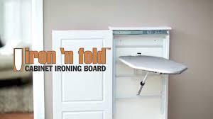Wall Mounted Cupboards Iron N U0027 Fold Cabinet Ironing Board Youtube