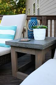 Patio Umbrella Side Table by Concrete U0026 Wood Outdoor Side Table Bower Power