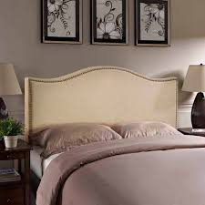 modway curl queen nailhead upholstered headboard multiple colors