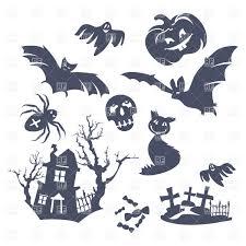 halloween vector art halloween decorations scary silhouettes vector image 37031