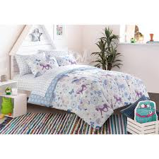 Girls Horse Bedding Set by Mainstays Kids Pretty Horses Bed In A Bag Bedding Set Walmart Com