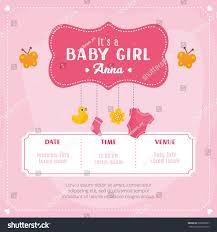 Card Invitation Baby Shower Card Invitation Template Stock Vector 528266857