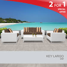 White Wicker Outdoor Patio Furniture by 5 Piece Outdoor Patio Furniture White Wicker Patio Set