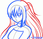 How to Draw Asuna, Asuna From Swords Art Online, Step by Step ...
