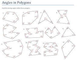 Two Way Tables Worksheet Angles And Polygons Miss Brookes Maths