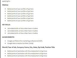 Professional Profile On Resume Coursework On Resume Resume For Your Job Application