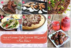 recipe ideas for planning a korean bbq party with a fusion twist