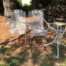 spray paint patio furniture our vintage wrought iron patio set