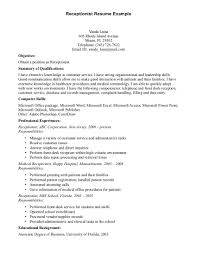 Cover Letter Resume Example Jobs For Objective With Skills And Job Resume Template With Specific Objective And Work Experience History Details Or Skills For