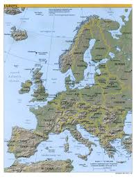 Blank Physical Map Of Russia by Europe Map Map Of Europe Europe Maps Of Landforms Roads Cities