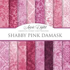 Shabby Chic Pink Wallpaper by Shabby Chic Pink Damask Textures Textures Creative Market