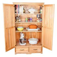 rustic kitchen ideas with light wood free standing kitchen pantry