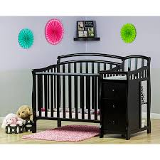 Convertible Crib Changer Combo by Grey Crib And Changing Table Set Creative Ideas Of Baby Cribs
