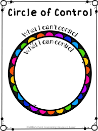 Control Circle Activity for Individual  Group Counseling  amp  Lessons      Includes Print Friendly Black Line Versions       This activity teaches kids how to
