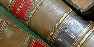 Leather book spines  Shakespeare