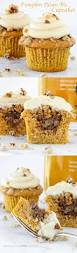 pumpkin pecan pie cupcakes bourbon brown sugar frosting