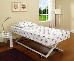 Full Size Trundle Bed Frame Amazon Com White Metal 39 U0027 U0027 Twin Size Pop Up Trundle For Daybeds
