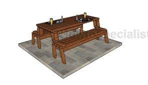 Wooden Folding Picnic Table Plans by Folding Picnic Table Plans Howtospecialist How To Build Step