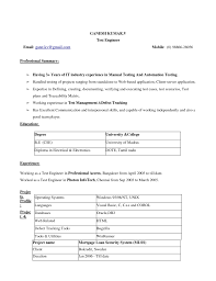 Sample Resume Of Manual Tester by Industrial Automation Engineer Resume Sample