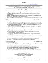 Resume Examples  Retail Management Resume Examples  superior