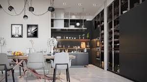 Distressed Black Kitchen Island by Contemporary Kitchen 36 Stunning Black Kitchens Design