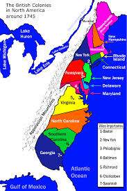 Map Of The New England Colonies by The 13 Colonies Of America Clickable Map Clip Art Library