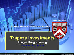 Trapeze Investments Trapeze Investments is a venture capital firm that is currently evaluating six different investment SlidePlayer