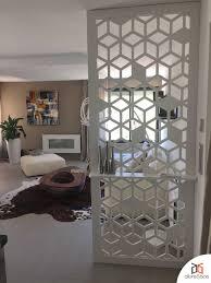 claustra bureau amovible claustra brise vue d u0027intérieur aux motifs géométriques très