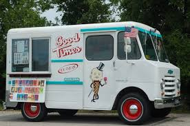 Vintage Ford Ice Cream Truck - these ice cream trucks are the coolest bestride