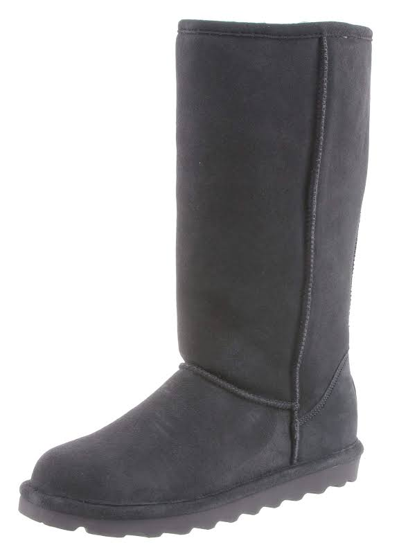 Bearpaw Elle Tall Mid-Calf Suede 9M Charcoal